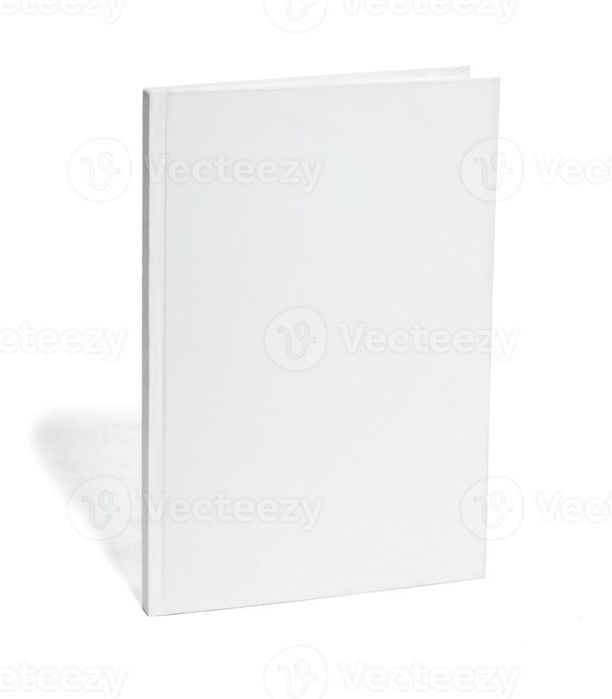 witte lege notebooksjabloon foto