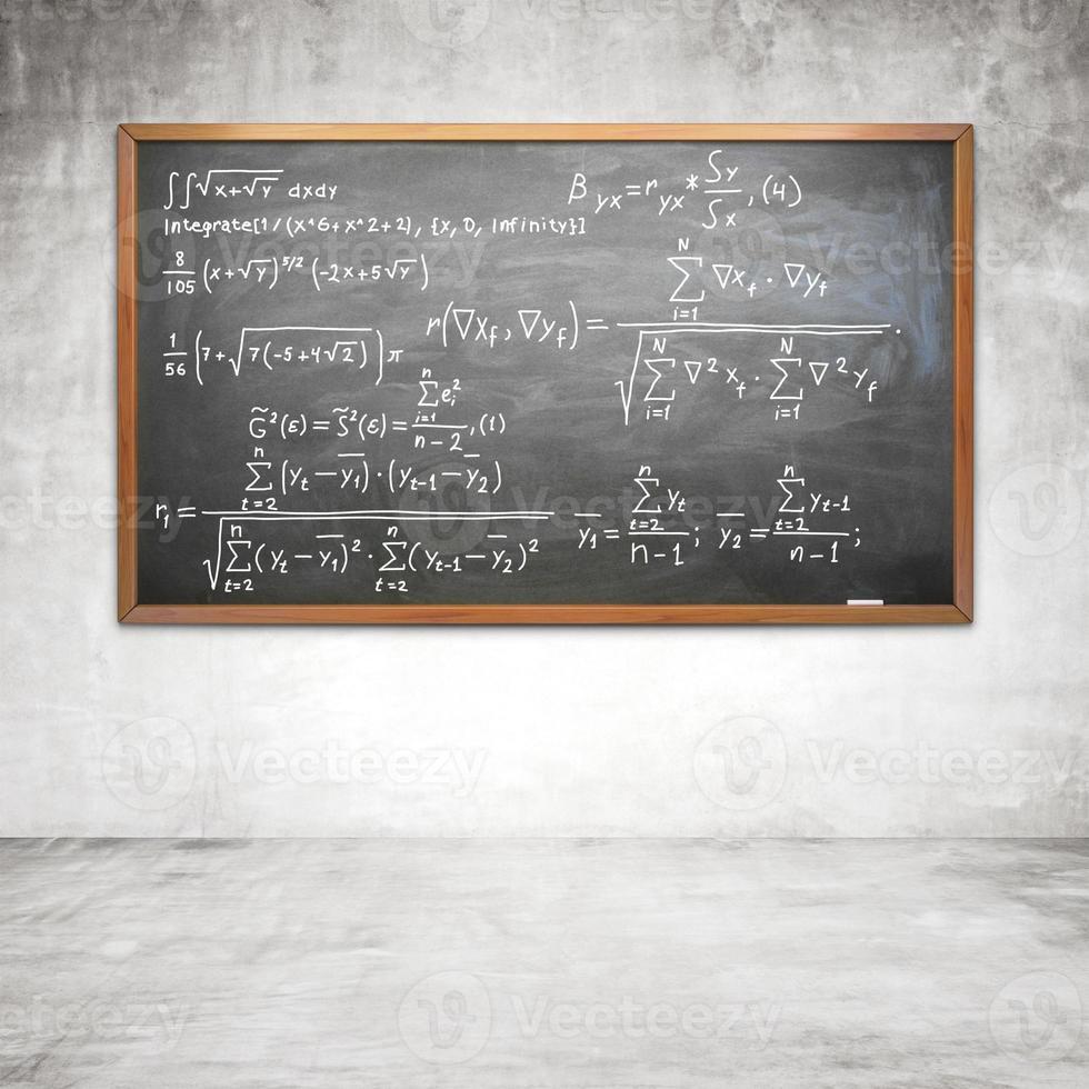 formule op krijtbord foto
