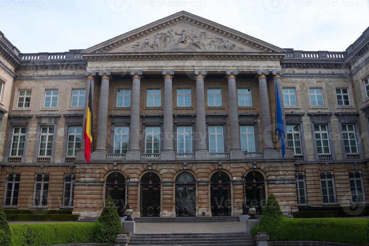 bouw van het belgisch federaal parlement foto