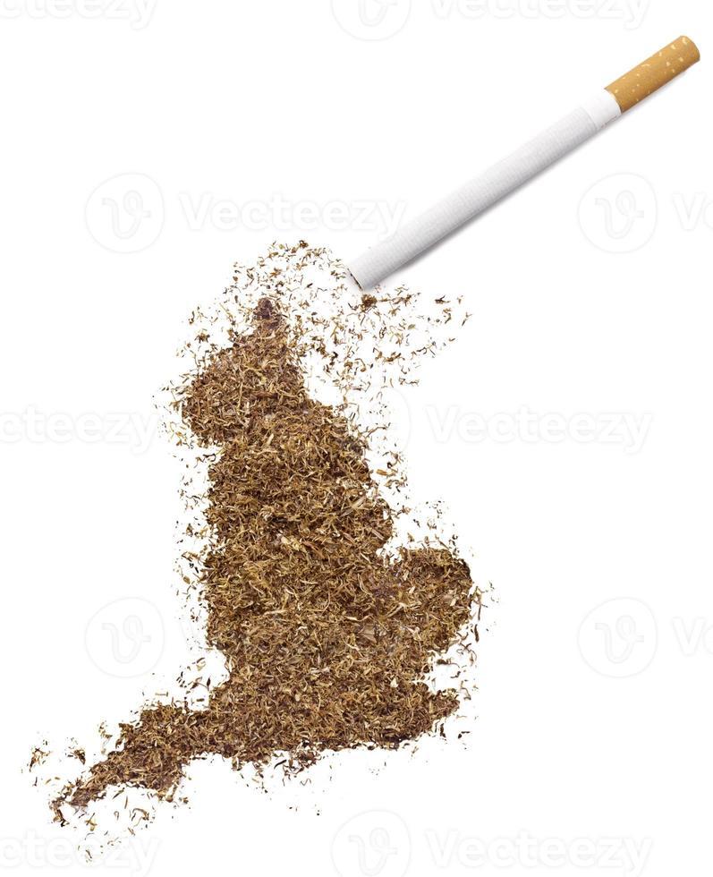 sigaret en tabak in de vorm van engeland (serie) foto