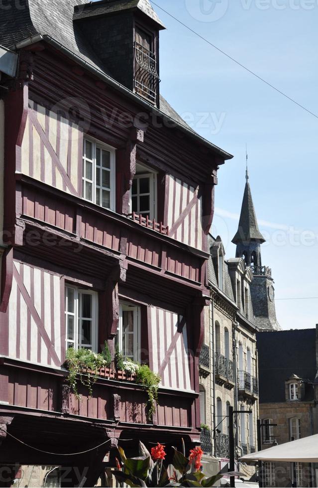 middeleeuwse vakwerkhuizen. foto