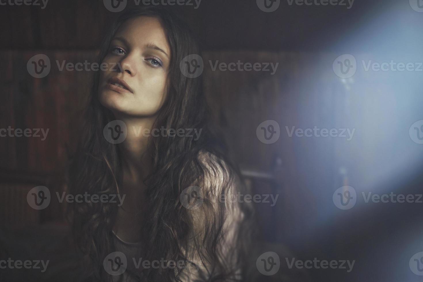 portret van tienermeisje (serie) foto