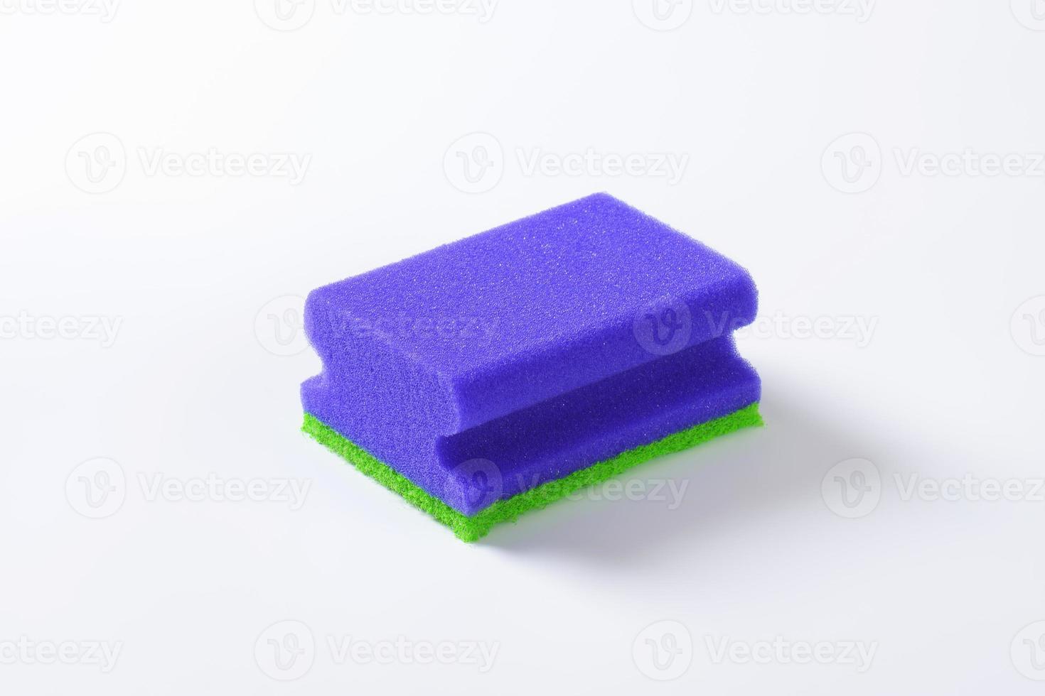 blauwe keukenspons foto