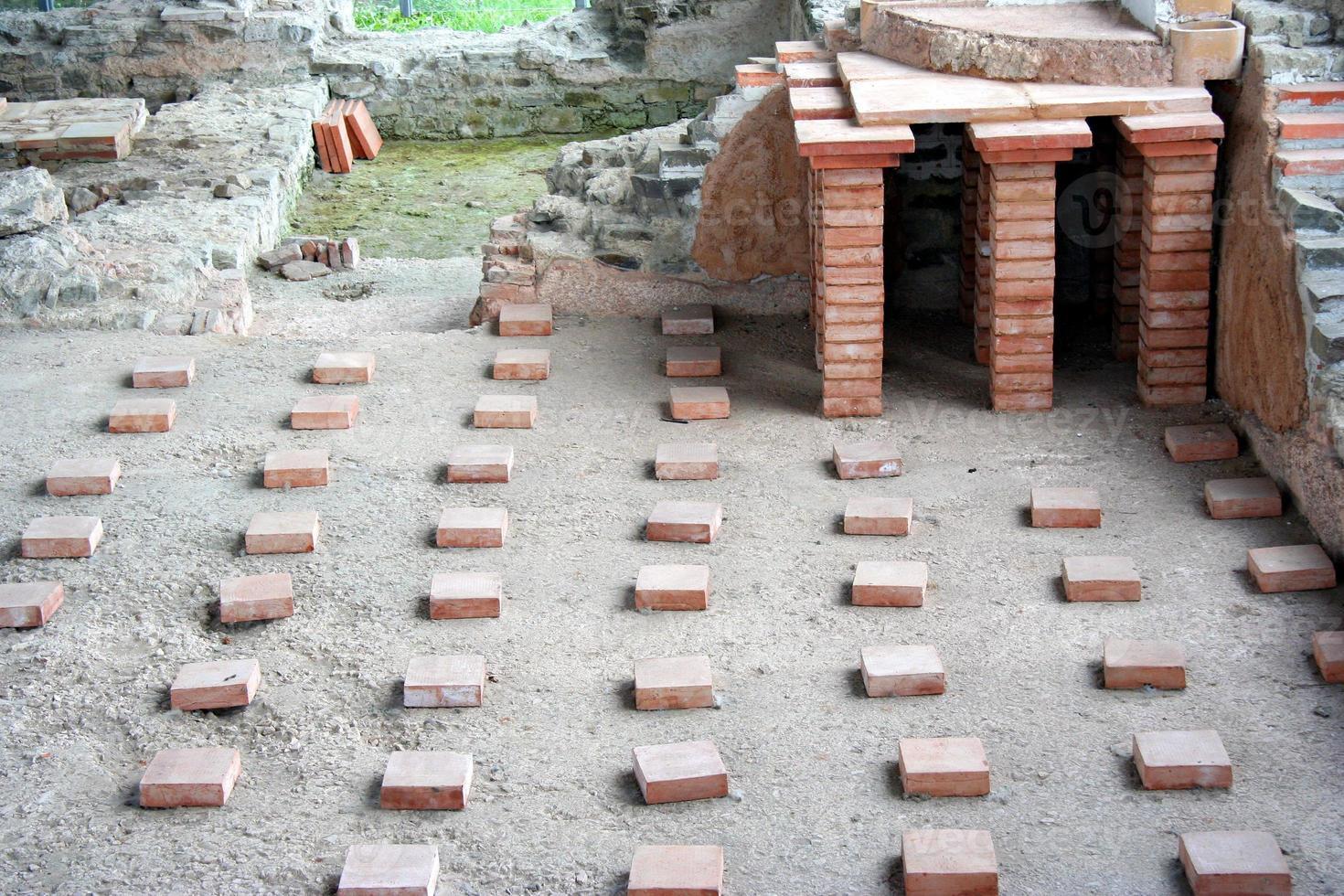 Romeinse vloer van een bagnio foto