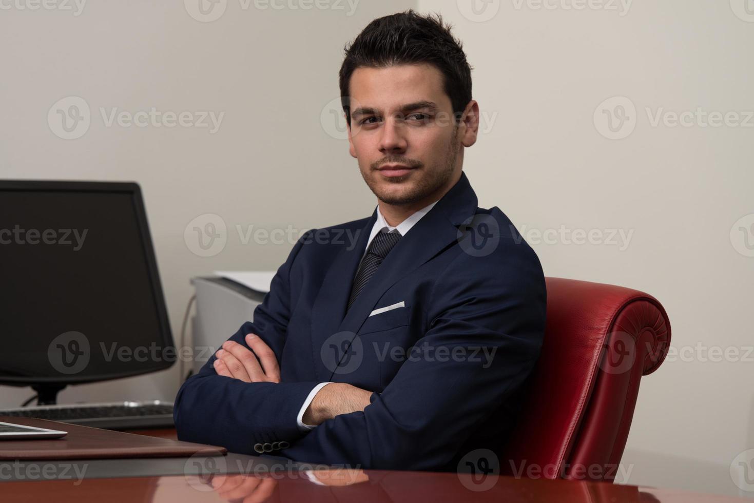 zeker zakenmanportret foto