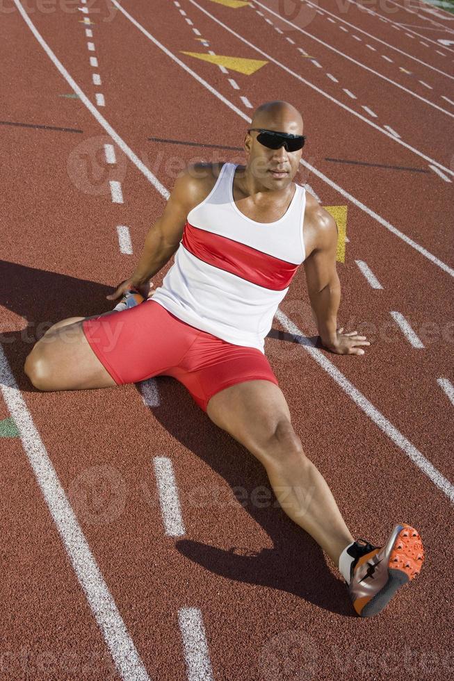 atleet aan het opwarmen foto