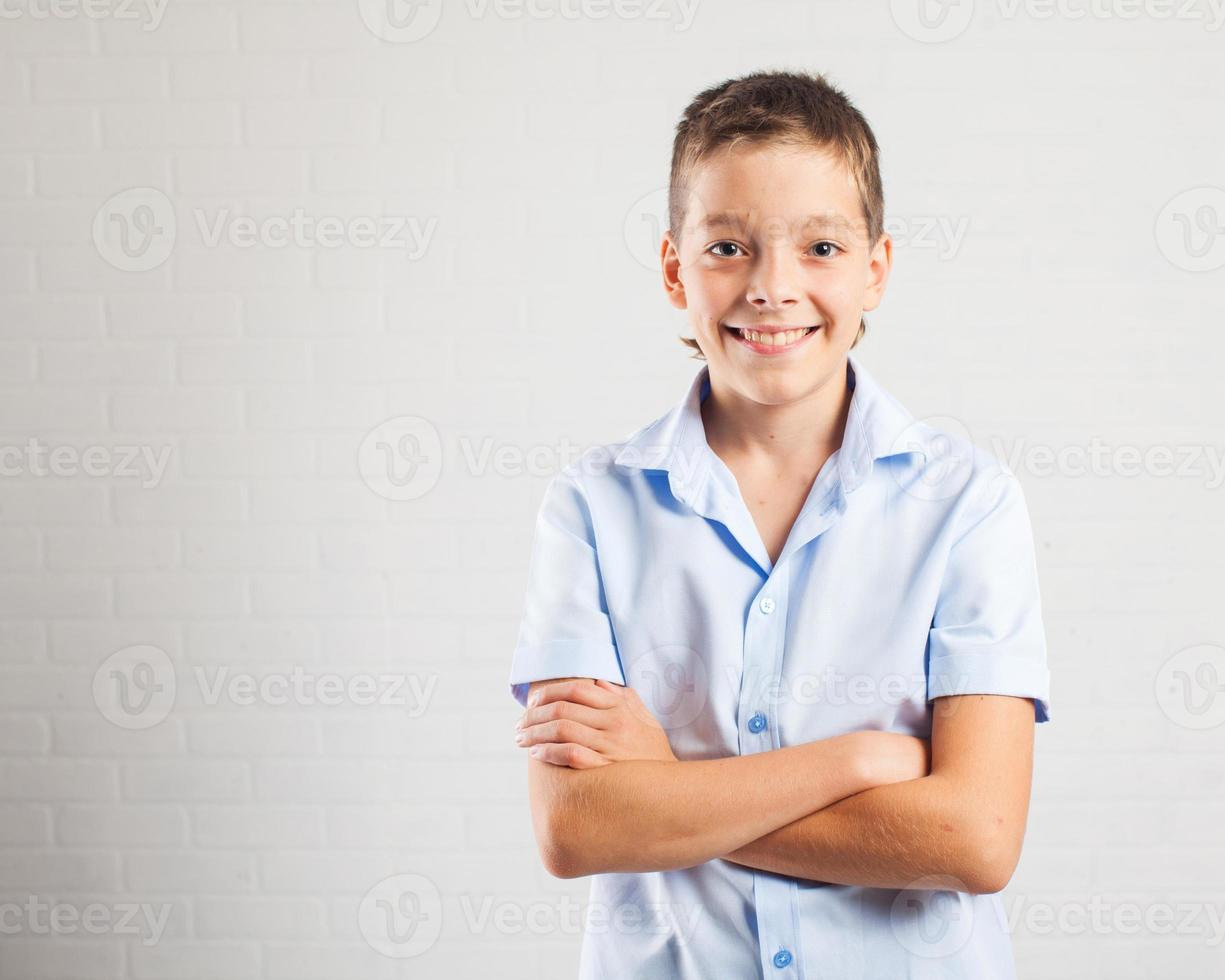gelukkige tiener foto