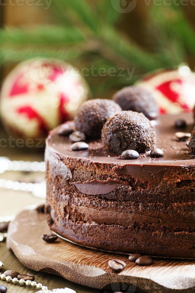 chocolade kersttaart foto