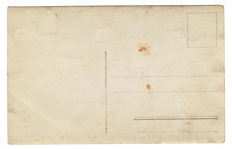 oude ansichtkaart achterkant foto