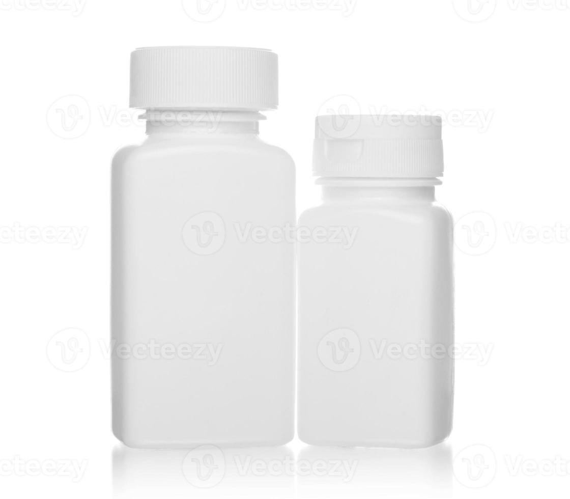 witte medische flessen foto
