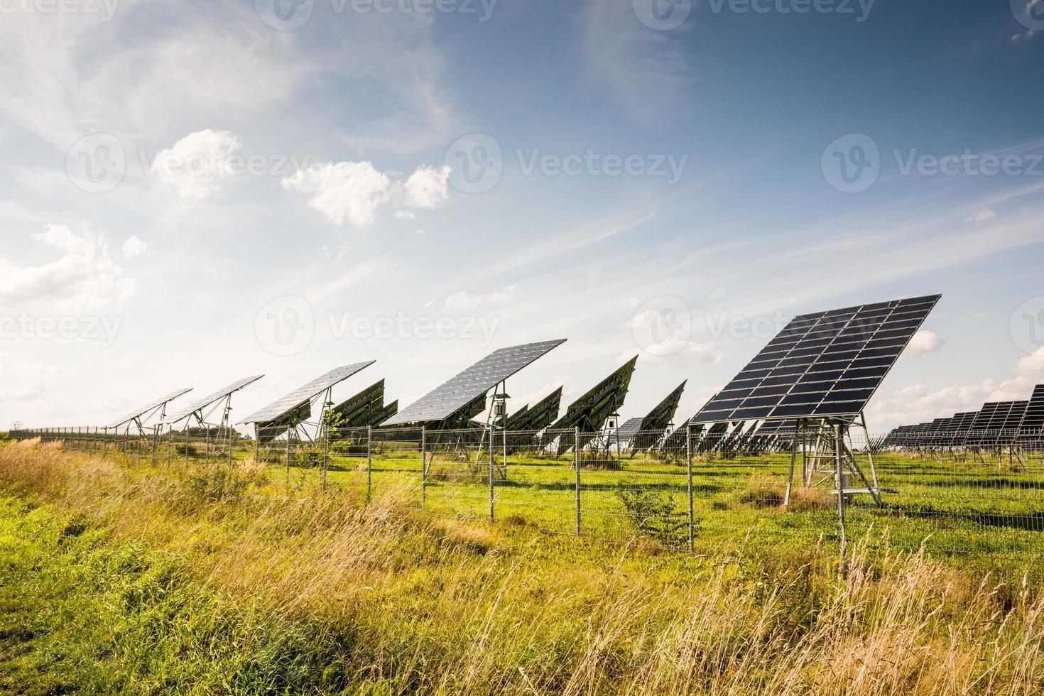 alternatieve energie met fotovoltaïsche energie foto