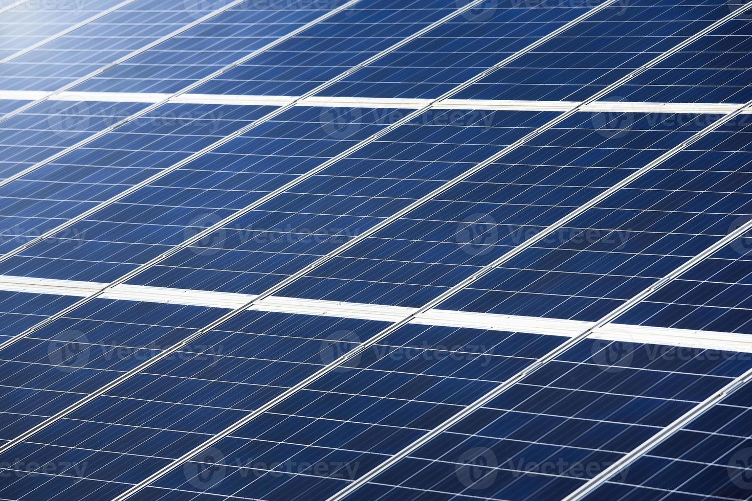 fotovoltaïsch paneel voor textuur of patroon van energieopwekking foto