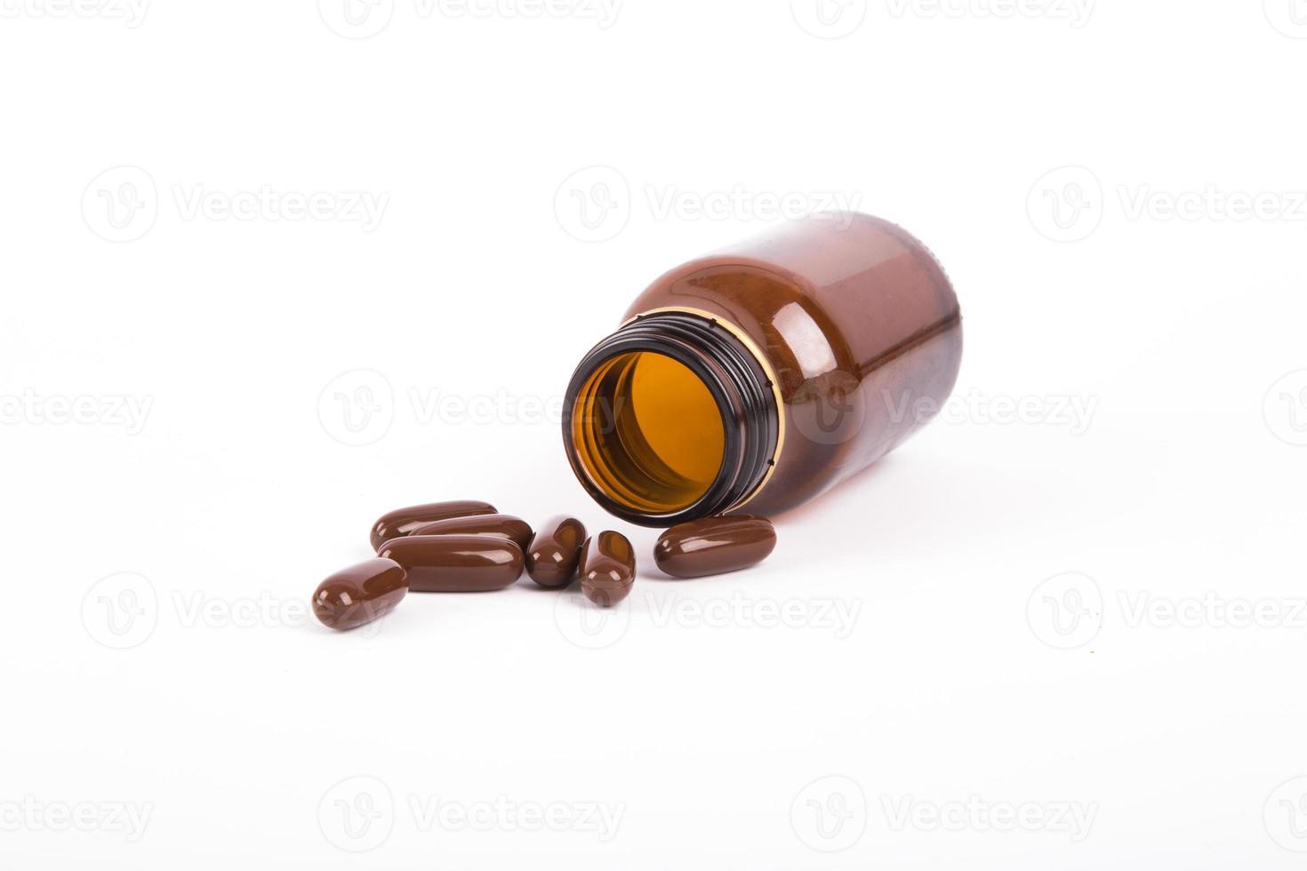 bruine medische fles foto