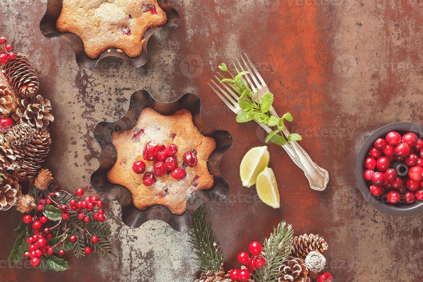 cranberry kersttaart foto