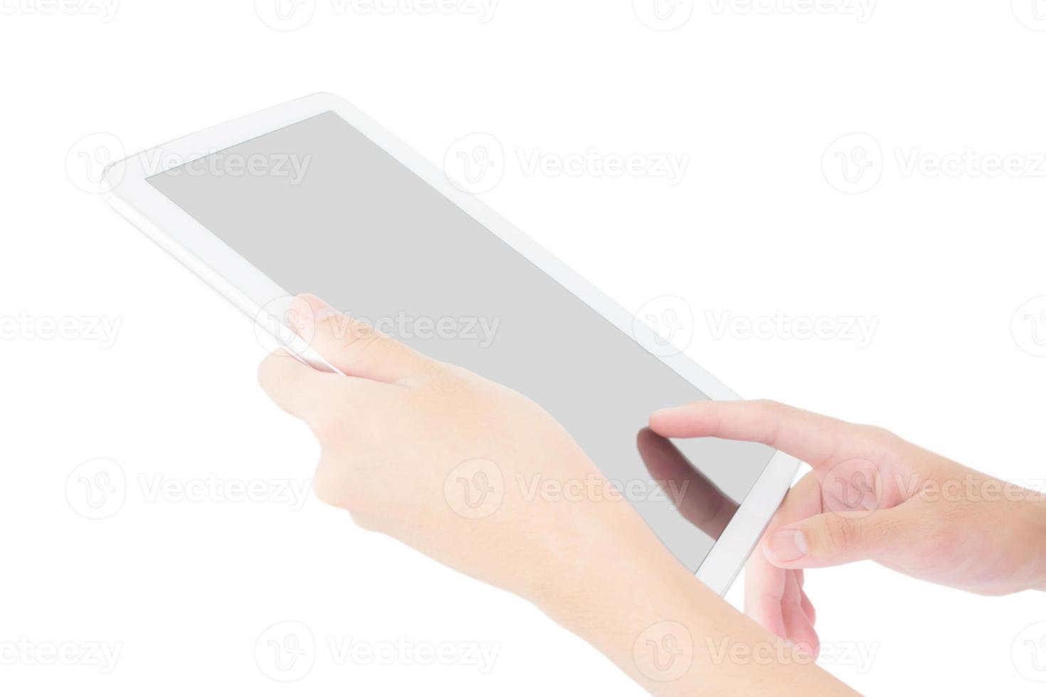 bedrijfspersoon met behulp van een digitale tablet foto