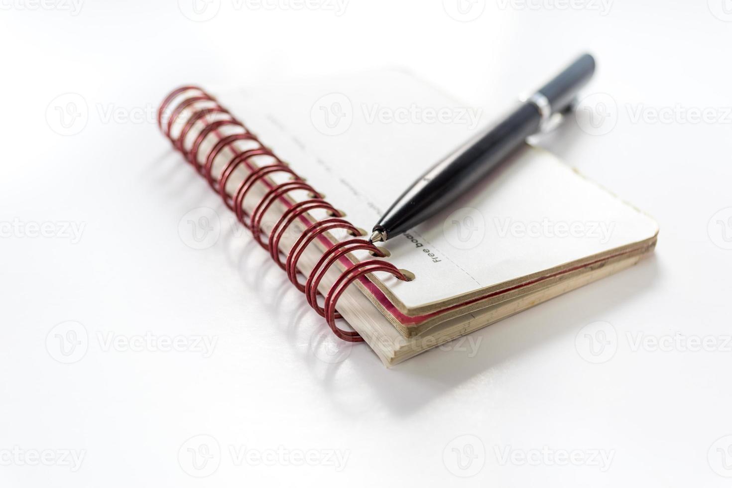 pen en notitieboek foto