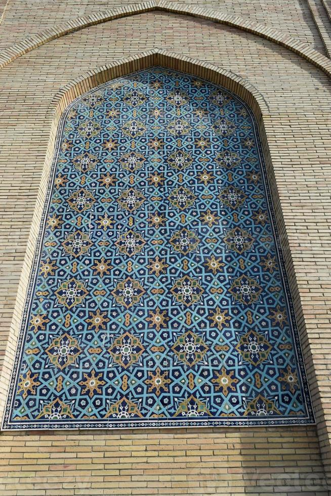 ornamenten en patronen in de architectuur van Centraal-Azië. foto