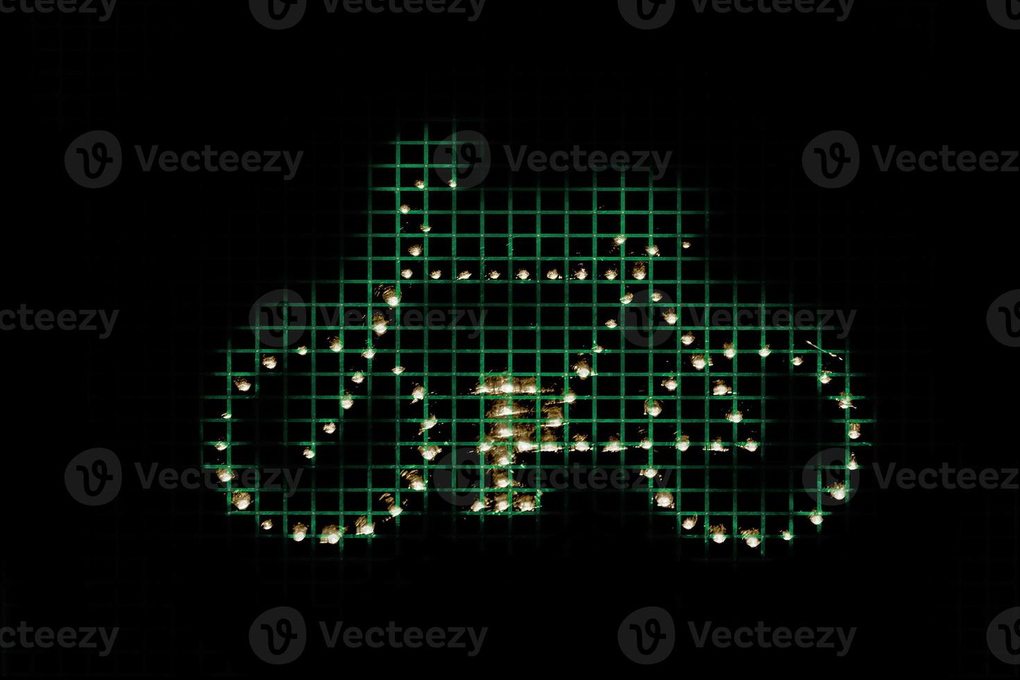 grafisch symboolschema met fiets - bicicleta simbolo foto