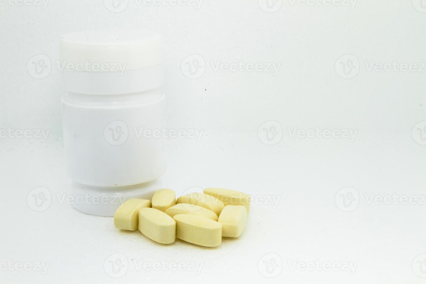 geel medicijn foto