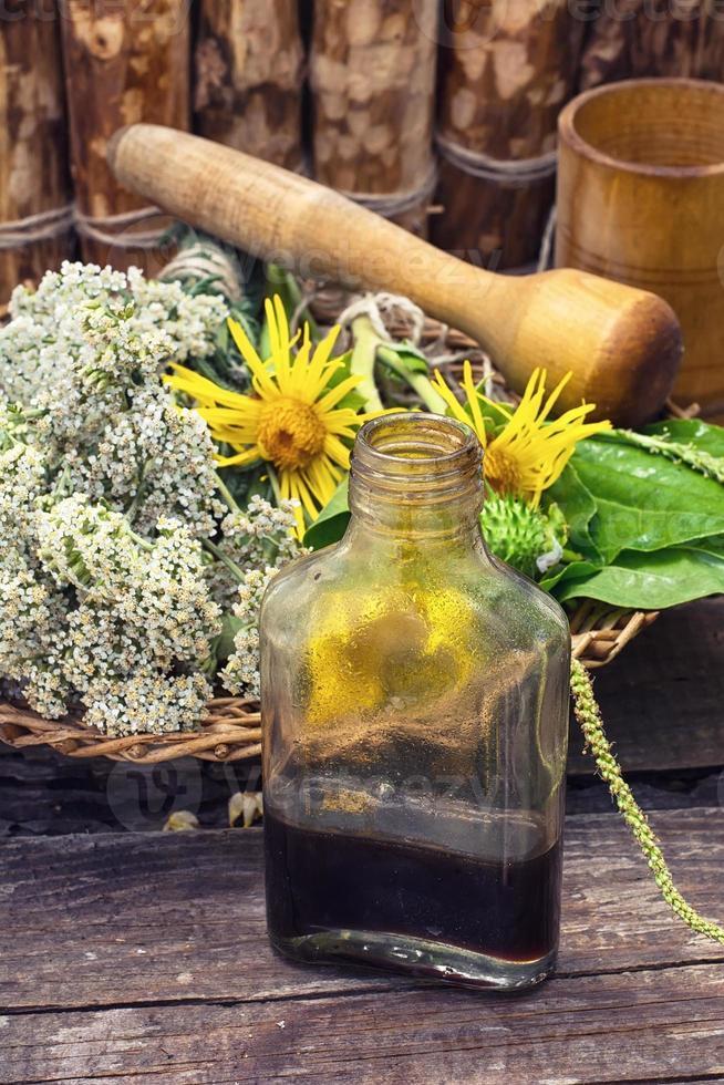 oogsten van geneeskrachtige kruiden foto