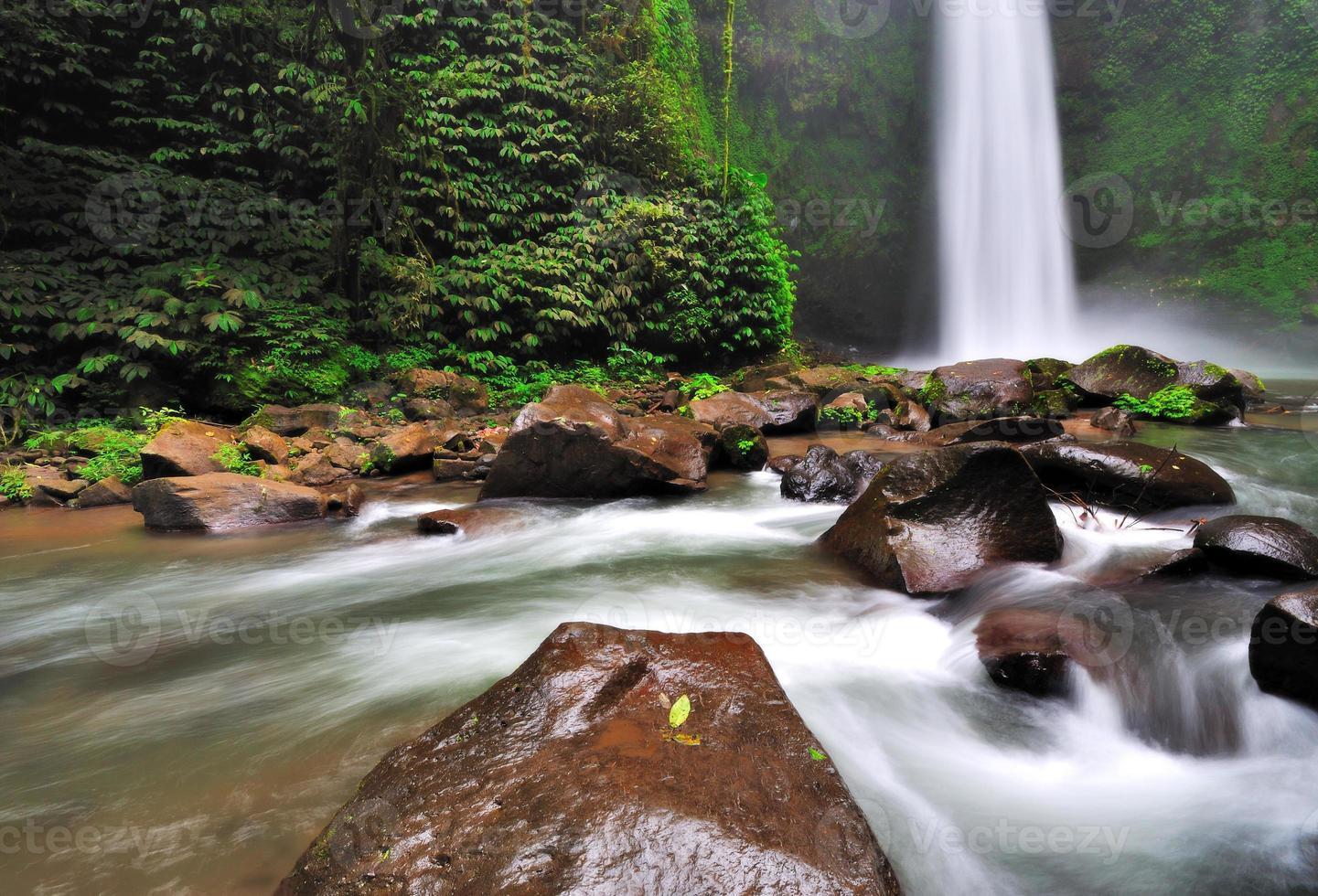 waterval in de jungle van bali foto