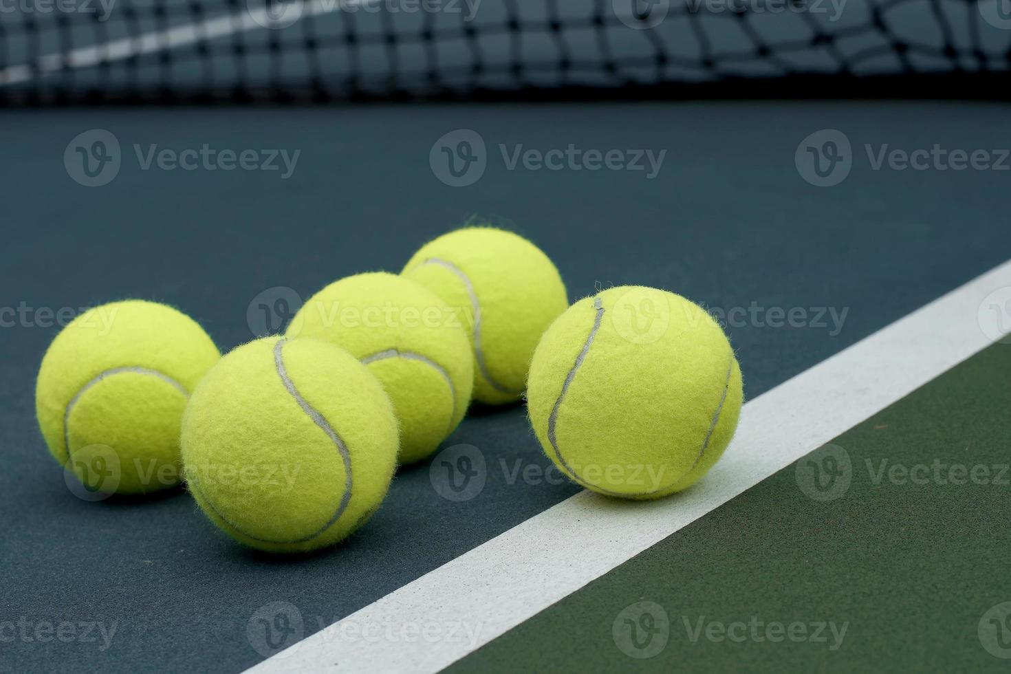 tennisbal op Hof achtergrond foto