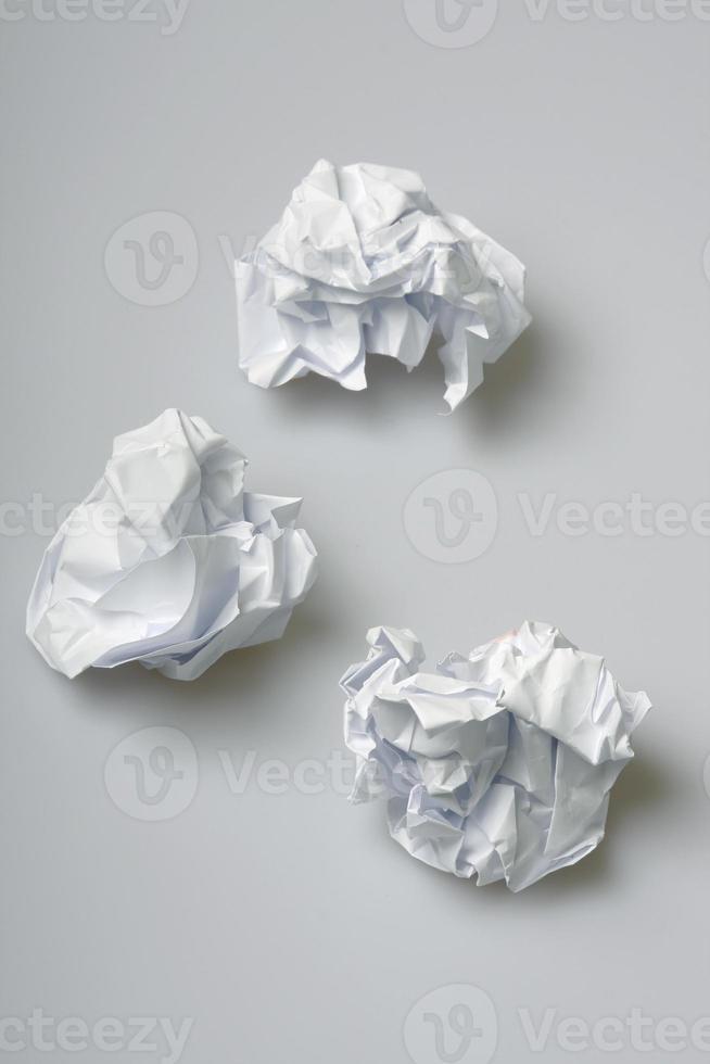 verfrommeld papier foto