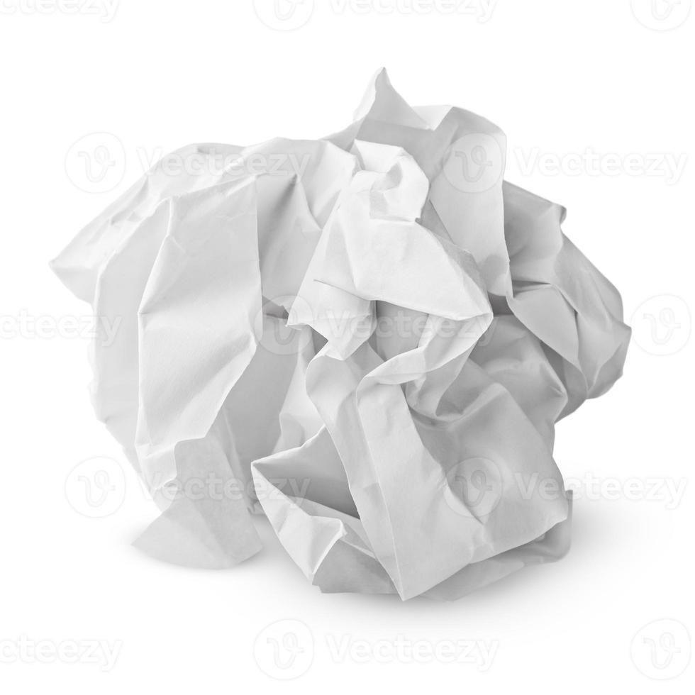 verfrommeld papier bal foto