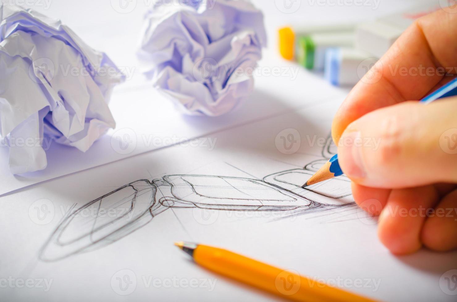 ontwerper tekenen foto