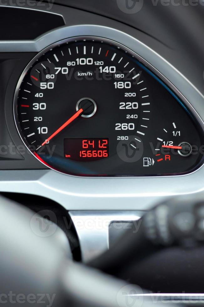 auto snelheidsmeter detail foto