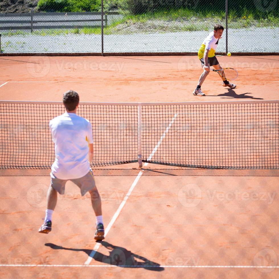 tennis wedstrijd foto