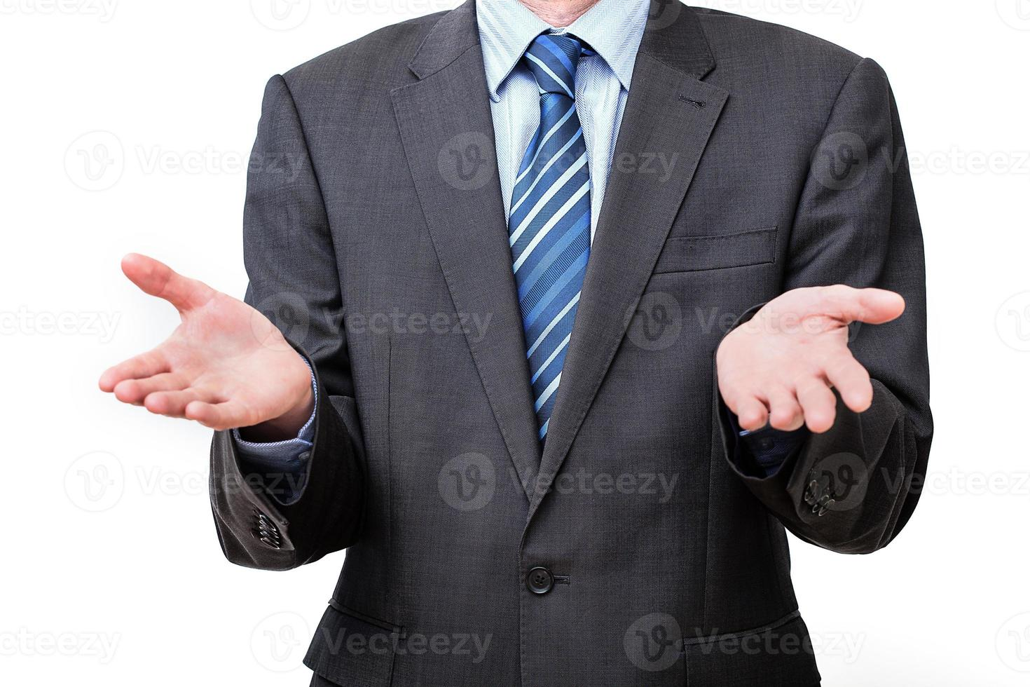 zakenman gebaar foto
