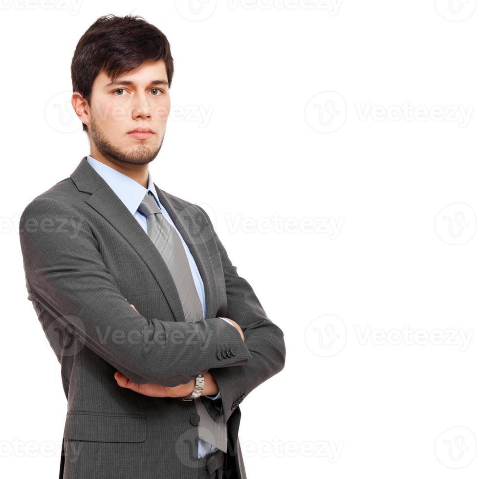 zelfverzekerde jonge zakenman foto
