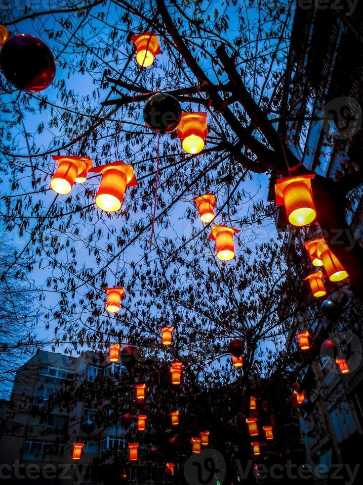 kleurrijke nachten met liefde foto