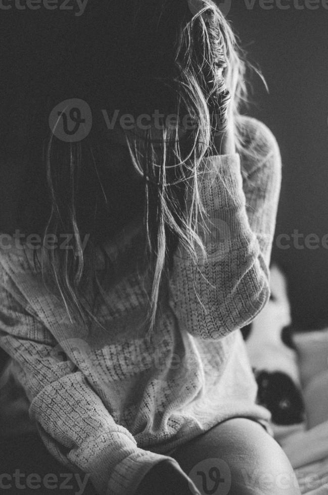 depressief voelen foto