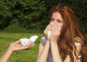 mensen met allergieën foto