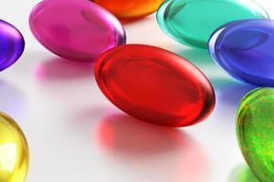 gekleurde pillen foto