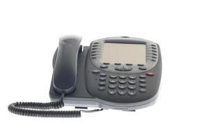 kantoor telefoon geïsoleerd op wit foto