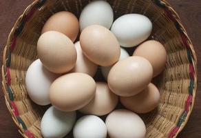bruine eieren foto