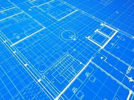 blauwdruk, lobby foto