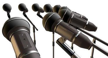 microfoons en stands array foto