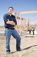 portret van een bouwer foto