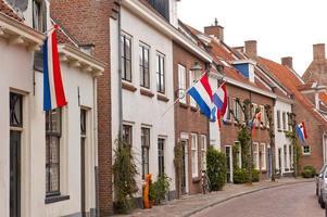 typische ducht straat op koninklijke vakantie foto