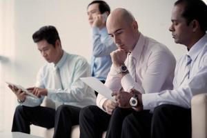 werkende zakenlieden foto