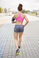 het vinden van het doel is cruciaal bij joggen foto