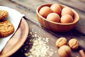 eieren in een kom foto