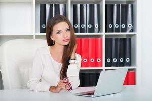 vrouw, bedrijf, kantoor foto