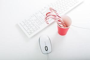 kerstsfeer op de office-tafel