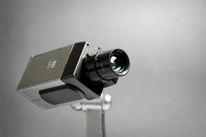 beveiliging cctv camera in kantoorgebouw foto