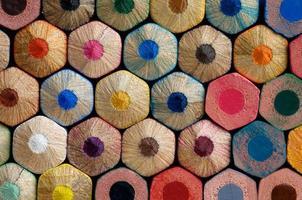 kleur potloden achtergrond foto